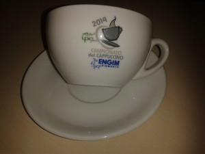 la tazza IPA ITALIA per il Campionato del Cappuccino